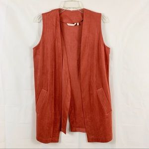Soft Surroundings Microsuede Soft Touch Vest Rust